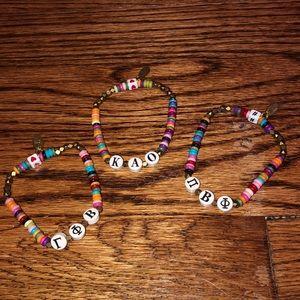 Rainbow sorority bracelets